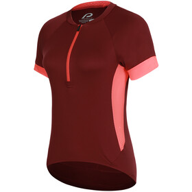 Protective P-Heart and Mind Shortsleeve Tricot Women, deep red